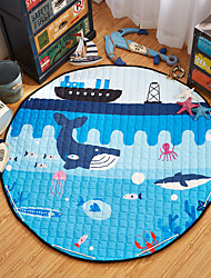 "Ocean World Toys Storage Bag Carpet Kids Game Mats diameter 59"" baby Crawling multifunctional round blanket Play Rug"