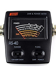 NISSEL RS-40 Dual Band Standing-Wave Meter Power Meter SWR Meter for Testing SWR Power