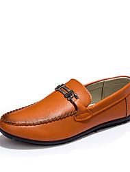 Для мужчин Удобная обувь Полиуретан Лето Повседневные Удобная обувь На плоской подошве Белый Черный Коричневый