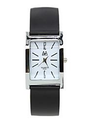 concha de ouro estilo clássico adulto relógio de quartzo retangular dos homens urbanos