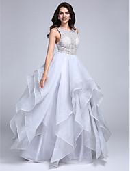 2017 ts couture® formale Abendkleid a-line scoop bodenlangen Organza