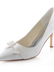 Women's Shoes Stretch Satin Spring /  Fall Heels / Pointed Toe Heels Wedding / Dress Stiletto Heel Satin Flower