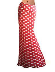 Jupes Aux femmes Maxi Grandes Tailles / Sophistiqué Polyester / Spandex Elastique