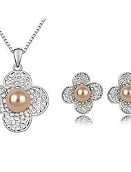 Ensemble de bijoux Alliage Mode Blanc Kaki Collier / Boucles d'oreilles Quotidien Décontracté 1set Colliers décoratifs Boucles d'oreille