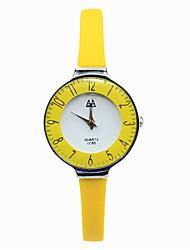 Women's Digital Pointer Silicone Strap Candy Color Mirror Fashion Belt Casual Quartz Watches