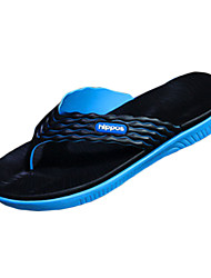 Men's Shoes Rubber Casual Slippers / Flip-Flops Casual Indoor Court Flat Heel Others Black / Blue / Green / Orange