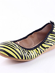 Women's Shoes  Spring / Fall Ballerina / Round Toe Flats Casual Flat Heel Others Yellow / Red / Black and White