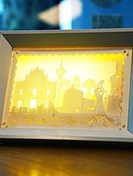 nous branchons papier créatif conduit sculpture 3d décoration lumière noël nuit macao