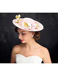 Women's Lace Pearl Flax Headpiece-Special Occasion Fascinators 1 Piece