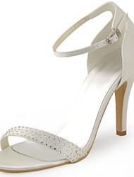 Women's Shoes Silk Stiletto Heel Heels / Peep Toe Heels Wedding / Party & Evening / Dress White