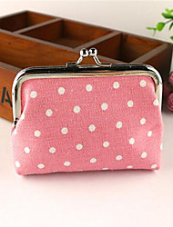 Women Canvas Formal Coin Purse Pink / Blue / Yellow / Brown