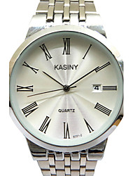 Men's Fashion Watch Casual Watch Quartz Stainless Steel Band Charm Silver