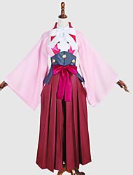 Inspiré par Kabaneri de la forteresse de fer Ayame Anime Costumes de cosplay Costumes Cosplay / Tops Cosplay / Bas / KimonoCouleur Pleine
