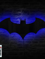télécommande 1pc conduit miroir originalité batman changer de couleur lumière de nuit