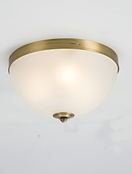 Flush Mount ,  Country Brass Feature for Designers Metal Living Room Bedroom Study Room/Office Entry
