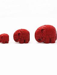 jóias diy charme cinábrio elefante