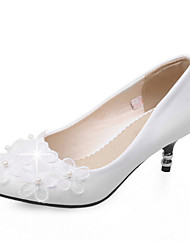 Women's Shoes Leatherette Spring / Summer / Fall Heels Heels Wedding / Party & Casual Stiletto Heel Imitation Pearl