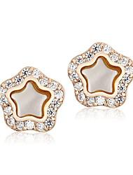 Earring Star Stud Earrings Jewelry Women Fashion Wedding / Party / Casual Alloy / Cubic Zirconia Gold