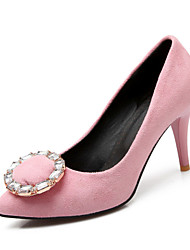 Women's Spring Summer Fall Fleece Wedding Dress Casual Party & Evening Stiletto Heel Black Pink Purple Red