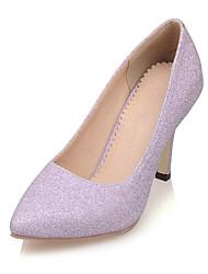 sapatas do estilete salto saltos / saltos dedo apontado casamento / partido das mulheres&noite / vestido roxo / prata / ouro