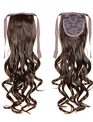 Women's Synthetic Ponytails 22inch 55cm 100g #8 Curly Wave Hairpieces Long Synthetic Hair Ribbon Ponytails