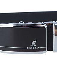A4009-5  Men's Cowhide Belt Business Automatic Buckle Belt Black