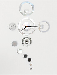 diy horloge miroir personnalité créative salon