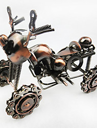 Handmade Queen-Size Wrought Iron Four Beach Motorcycle Model Home Accessories Crafts Ornaments Birthday Gift