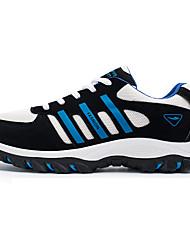 Da uomo-Sneakers-Sportivo-Comoda-Piatto-Tulle PU (Poliuretano)-Nero Blu Arancione
