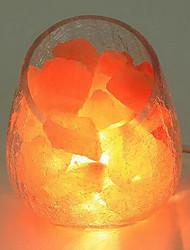Himalayan Salt Crystal Rose Decorative Small Lamp Creative Bedroom Warm Nightlights