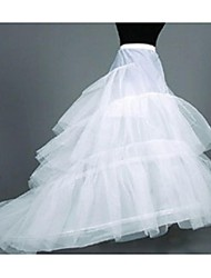 Slips Chapel Train Floor-length Tulle Netting