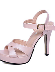 Women's Sandals Summer PU Casual Wedge Heel Others Pink White
