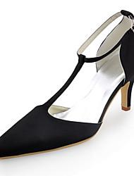 damesschoenen zijde stiletto hiel hielen / spitse neus hakken bruiloft / feest&avond / jurk zwart