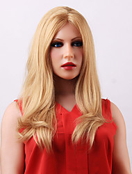 Wonderful Long Straight Blonde Lace Front  Human Hair