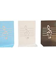 um par de forma nota musical grandes suportes de livros de folha de flandres criativas