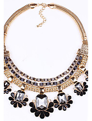 Necklace Choker Necklaces Jewelry Daily / Casual Fashion / Bohemia Style Alloy / Zircon / Acrylic Black / Green / Pink 1pc Gift