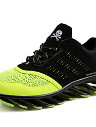 Men's Shoes Tulle Athletic Shoes Running Lace-up Black / Green