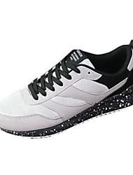 Sapatos Masculinos-Tênis-Preto / Azul / Cinza / Preto e Vermelho / Preto e Branco-Couro Ecológico-Casual