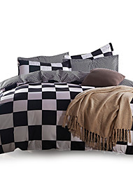 Blumen Bettbezug-Sets 4 Stück Polyester Muster Reaktivdruck Polyester ca. 1,50 m breites Doppelbett / ca. 1,90 m breites Doppelbett
