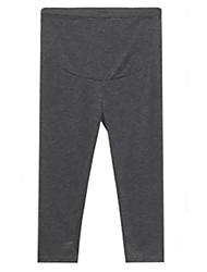 Pantaloni Maternità Semplice Skinny Cotone Elasticizzato