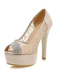 Women's Shoes Stiletto Heel Peep Toe Sandals with Rhinestones More Color Available