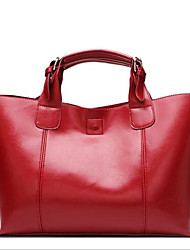 Women PU Formal / Casual Tote Yellow / Gold / Red / Black