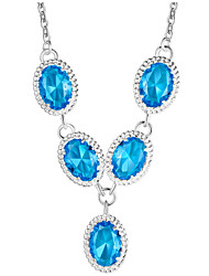 Fashion jewelry pendant necklaces 925 silver necklace crystal for women Wedding PN662