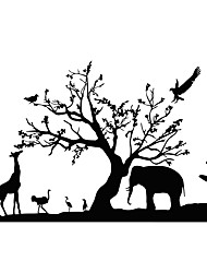 Animals Wall Stickers Giraffe Wall Stickers Decorative Wall Stickers,PVC Material Removable Wall Decal