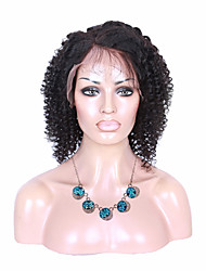New Style 100% Brazilian Human Hair Wig Full Lace Wig Natural Black Color Fashion Curly Wig for Black Women