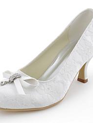 damesschoenen zijde stiletto hiel hielen / hakken ronde neus bruiloft / feest&avond / jurk wit