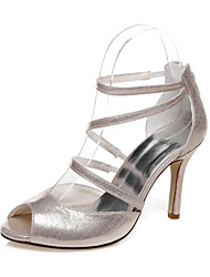 Women's Wedding Shoes Heels / Peep Toe Sandals Wedding / Party & Evening / Dress Silver / Champagne