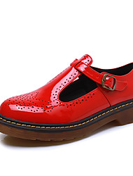 Women's Shoes  Fall Comfort / Round Toe / Closed Toe Flats Casual Low Heel Buckle Black / Red / White