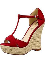 Women's Shoes PU Summer Wedges / Gladiator / Open Toe Sandals Outdoor / Office & Career / Dress Wedge Heel Others