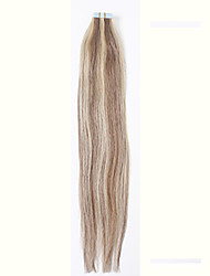 # 27 / 613double fita desenhado em extensões de cabelo 100% preto loira promoção remy indiana do cabelo humano marrom pu trama de pele